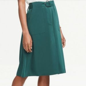 NWT Ann Taylor Factory Belted Midi Skirt - Size 6